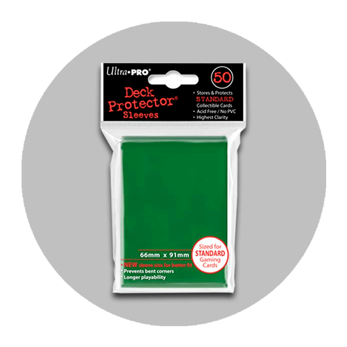 Fundas Ultra Pro Standard Verde Solid (66x91mm) / (50 unid.)
